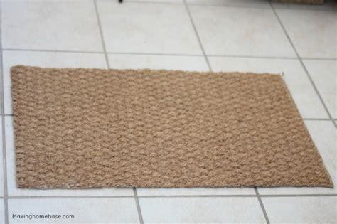 ikea hessian rug diy skeleton key door mat