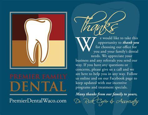 Dental Referral Card Template by Referral Thank You Letter Dentist Patient Referral Thank