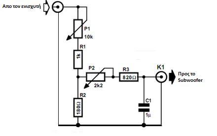 subwoofer crossover circuit diagram subwoofer crossover diagram subwoofer free engine image