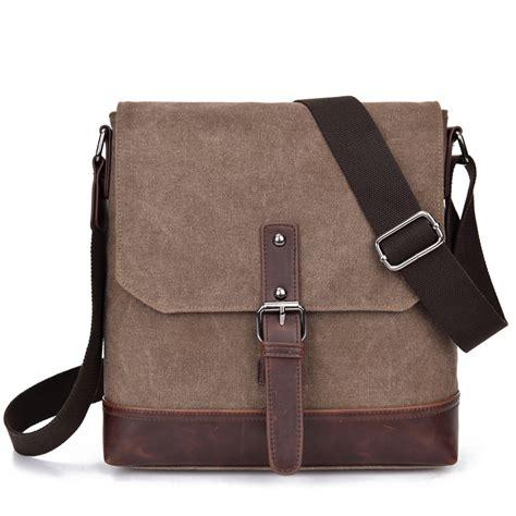 Nes Messenger Bag by ᗖcanvas Leather Vintage Vintage Bag New