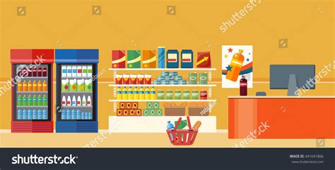 Buy On Shelf by Supermarkets Grocery Stores Retail Shop Buy Stock Vector