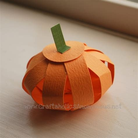 How To Make A Pumpkin With Construction Paper - crafts for favething