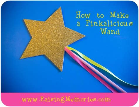 how to make easy diy pinkalicious or princess wands