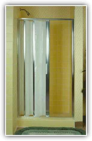 Folding doors for bathrooms, accordion folding shower