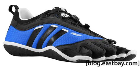 adidas adipure barefoot trainer lace blue black white eastbay eastbay