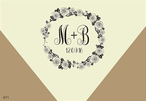 Wedding Monogram Border by Wedding Monogram Sts 1 5 Quot X1 5 Quot Border Rubber St