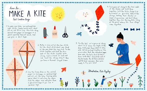 How To Make A Simple Kite Out Of Paper - how to make a kite flow magazine
