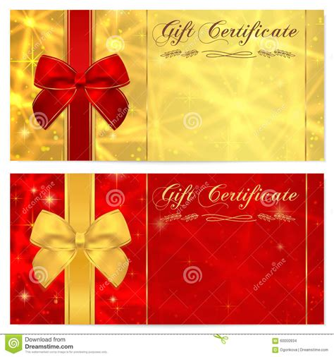 free gift card design template gift certificate voucher coupon invitation or gift card