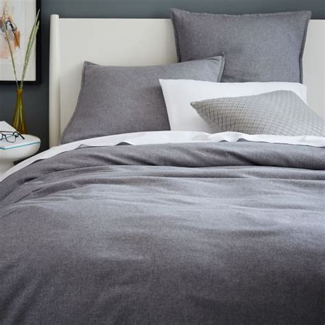 coverlet sham flannel duvet cover shams west elm
