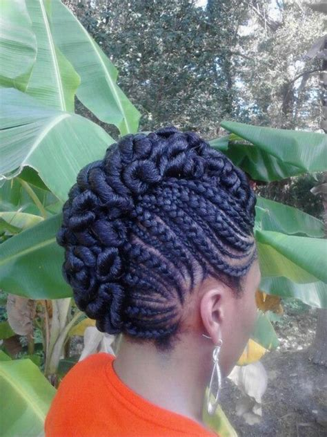 big cornrows updo styles natural hair cornrow updo natural hair styles