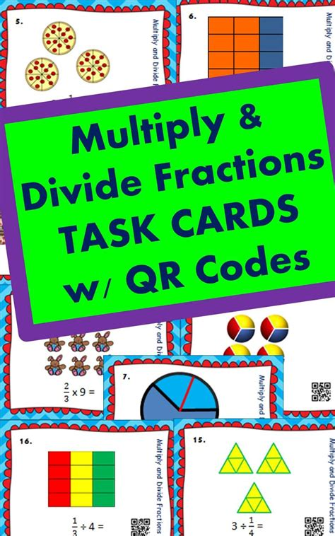 multiplying fractions using cards template fractions multiply and divide fractions task cards