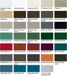 berridge color chart standing seam metal roofing colors log home