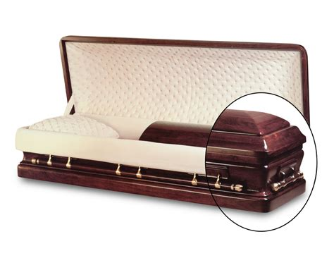 full couch casket presidential walnut full couch hardwood casket