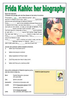 esl famous person biography 57 free esl art worksheets