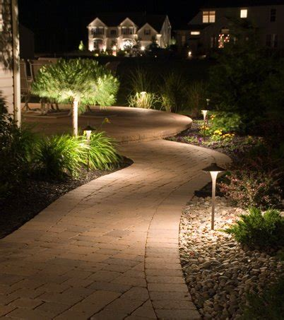 landscape lighting sidewalk path lighting lets you provide a welcoming and safe atmosphere