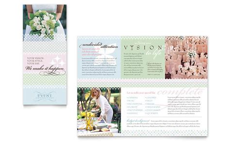 wedding brochures templates free wedding event planning brochure template design