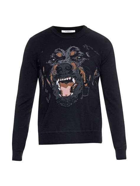 Givenchy Sweater lyst givenchy rottweiler crew neck sweater in black for