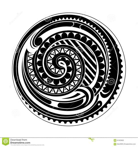 maori circle tattoo stock vector image of vector spiral