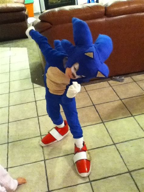 sonic costume  steps  pictures
