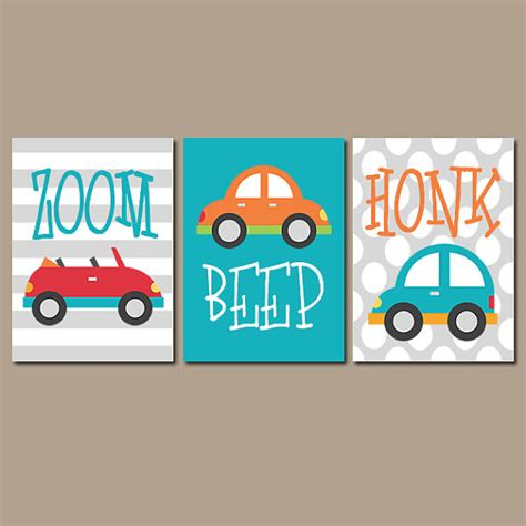 Cars Wall Art Transportation Theme Boy Nursery Wall By Transportation Nursery Decor