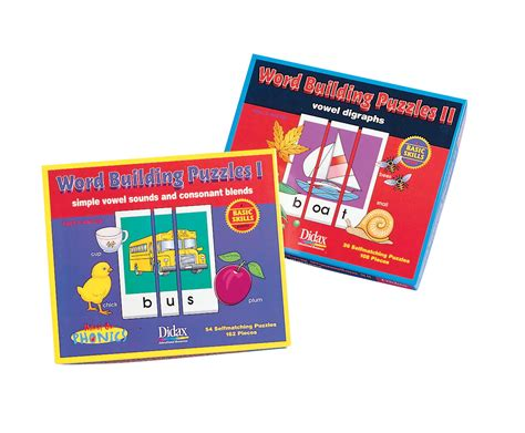 puzzle cards reading writing resources 234980 didax word building