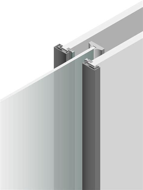 Porta Interna Moderna porta interna moderna con stipite in alluminio lualdi spa