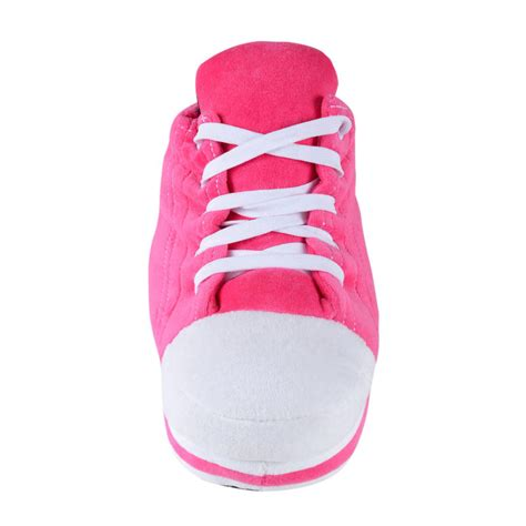 pink sneaker shoe trainer slipper with shoe laces