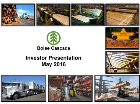Bcc Investor bcc boise cascade co boise cascade investor presentation