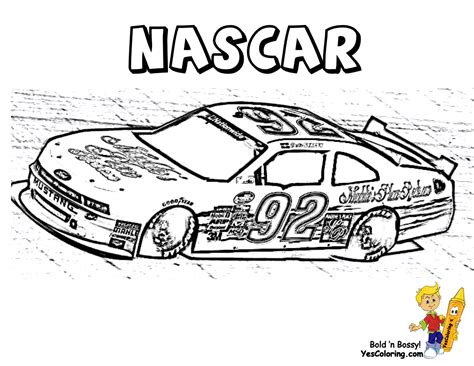 free nascar coloring pages the sports fan