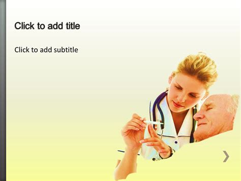 geriatrics medical powerpoint template free medical