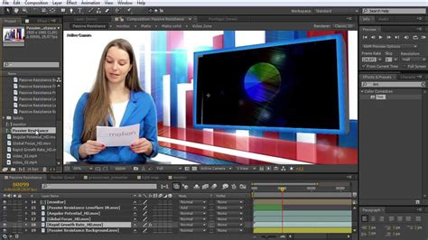 After Effects Tutorial Digital Juice Creating A Greenscreen Presenter Animation In After Digital Juice Templates
