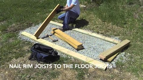 Find Building Floor Plans by How To Build A Lean To Shed Part 1 Gravel Foundation