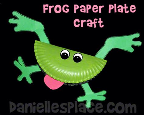 Frog Craft Paper Plate - frog crafts and learning activities for