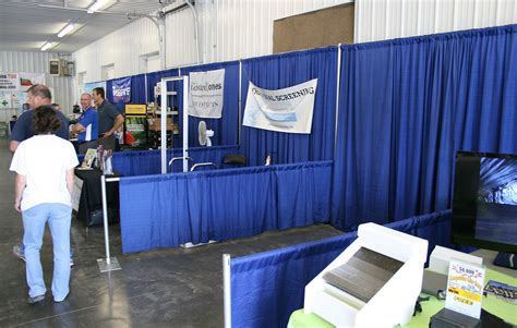 trade show drapes and pipes 3ft and 8ft pipe and drape booth rental iowa city cedar