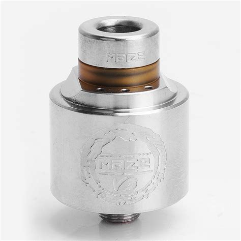 Rda Maze 22 authentic hcigar maze v3 rda silver 316ss 22mm rebuildable