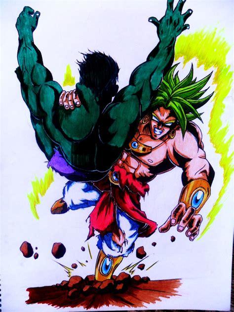 imagenes de goku vs hulk hulk vs broly by chant4ezkaton2000 on deviantart