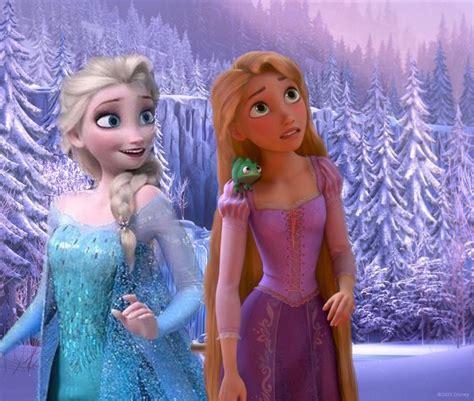 film elsa vs rapunzel elsa and rapunzel by animegurrlcx on deviantart
