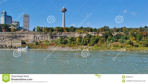 niagara falls boat tour times skylon tower and maid of the mist boat tour editorial