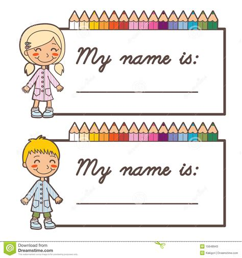 cards at school school student name cards stock vector image of
