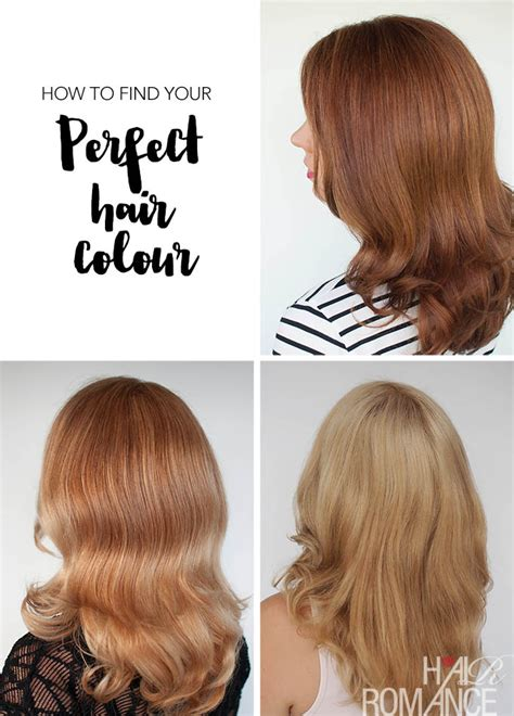 how to determine your hair colour the easy way to find your perfect hair colour hair romance
