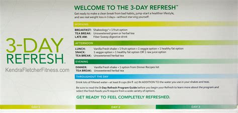 3 Day Detox Pdf by 3 Day Refresh Directions Days To Fitness