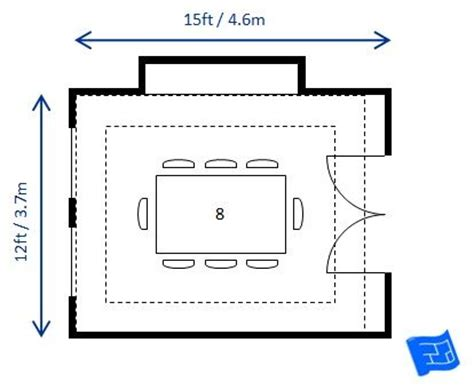 dining room size  dimensions images