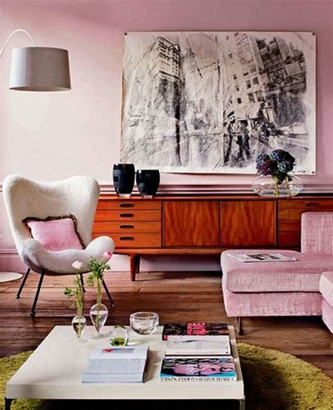 pink living room contemporary living room with pink decor