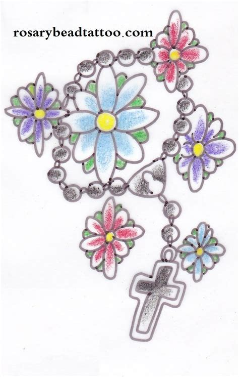 cross with halo tattoo rosary on cross