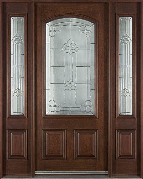 custom solid wood entry door design with narrow front door custom single with 2 sidelites solid wood