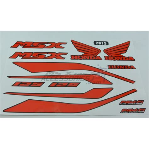 Sticker Honda Msx by Honda Msx125 2015 Decals Sticker Set