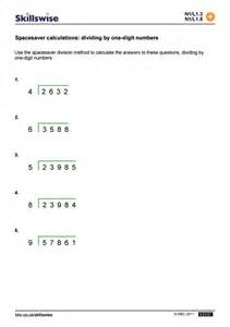 spacesaver calculations dividing by one digit numbers