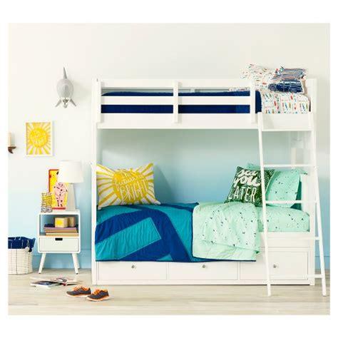 bunk bed white wood finn bunk bed white wood pillowfort