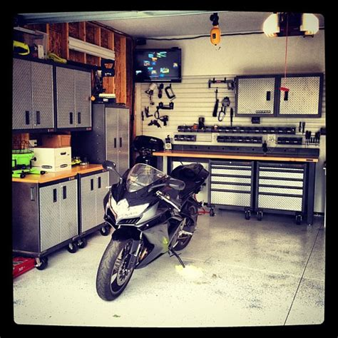 Garage Workshop Layout Ideas dream motorcycle garages park your ride in style at night