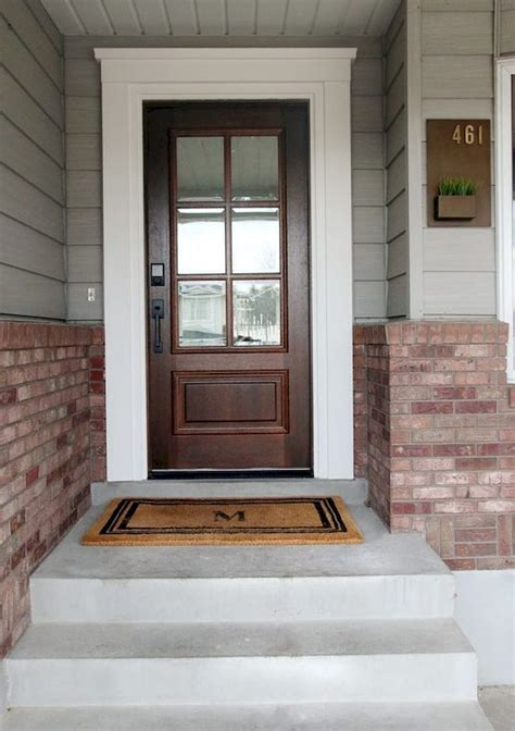 awesome   modern farmhouse front door entrance